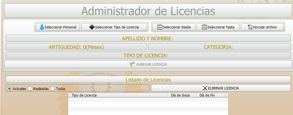 RRHH licencias